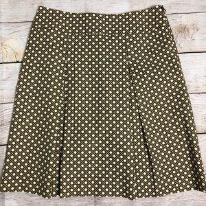 Talbots Lattice Print Box Pleat Skirt Sz 4P